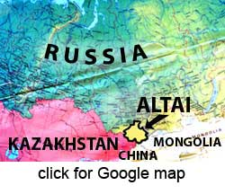 map showing Altai